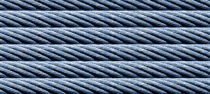 Ocelová lana, <br>kompenzační kabely <br>a příslušenství